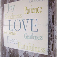Fruits of the Spirit Galatians 522 Love Joy by cellardesigns