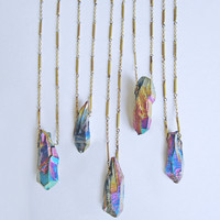Pioneer Titanium Quartz Point Necklace | Eclectic Eccentricity Vintage Jewellery