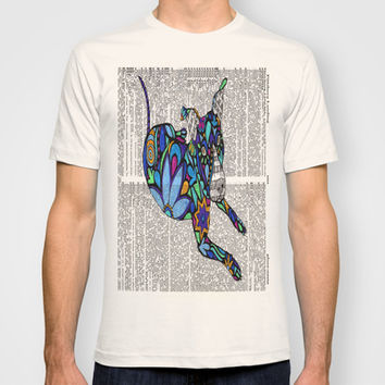 Whimsical Dog Dancing on Words T-shirt by Georgie Pearl Designs | Society6