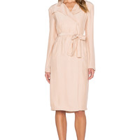 TY-LR The Suburban Trench Dress in Blush Pink