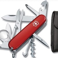 Victorinox Explorer Swiss Army Knife, Red with Pouch