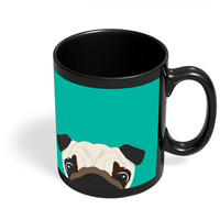 Pug Black Coffee Mug