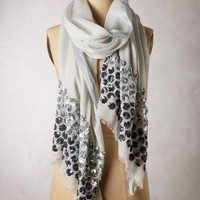 Apiary Scarf by Anthropologie Silver One Size Scarves