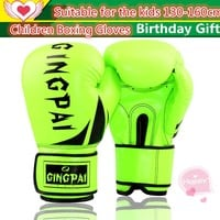 Colorful High Quality Child Kids Boxing Gloves Fitness MMA Glove Kick Fighting Training Punching Glove Birthday Gifts Boys Girls