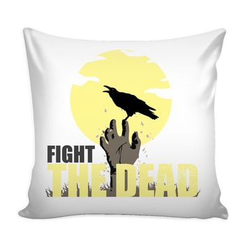 Zombie Graphic Pillow Cover Fight The Dead