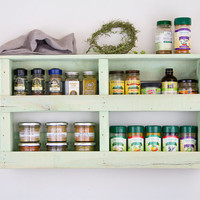 Bayou Green Spice Rack, Rustic Spice Rack, Reclaimed Wood