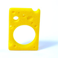 Cheese. Resin ring. Resin jewelry. yellow, Modern jewelry. Cocktail ring. Chunky resin, statement ring OOAK