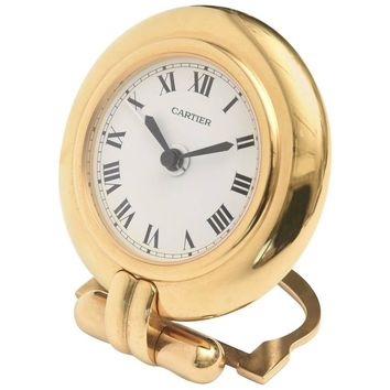 Cartier 24-Karat Gold-Plated Travel, Desk or Nightstand Quartz Clock / SAT.SALE