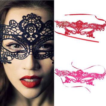 Hot sale 1pc Sexy Beautiful lady Black Lace Floral Eye Mask Venetian Masquerade Fancy Party Prom Dress Accessories drop shipping
