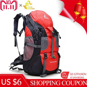 Free Knight 50L Mountaineering Backpack Waterproof Climbing Cycling Camping Travel Bag Rucksack Outdoor Sports Bag Molle Bag