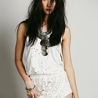 Spell Womens White Dove Lace Shorts