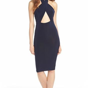 Women's Missguided Cross Front Halter Dress,