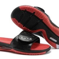 Nike Air LeBron Slide 78251460 Black/Red Casual Sandals Slipper Shoes Size US 7-11