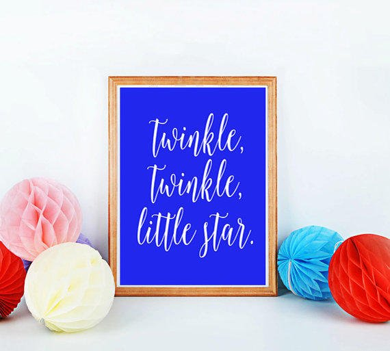 printable nursery quot twinkle from mixarthouse on etsy