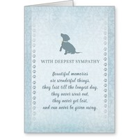 Small Dog Sympathy Beautiful Memories Card