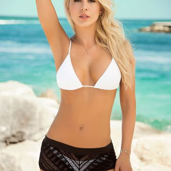 Skimpy Little Black Beach Short Sassy Assy Swimwear