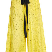 Proenza Schouler - Printed cotton and silk-blend wide-leg pants