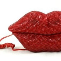 Hot Lips Phone - Red Rhinestone