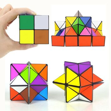 Infinity Star Cube Variety Magic Puzzle Fidget Toy 2-in-1 Spinner Cube Orbiter Anti Stress Toys For Adult