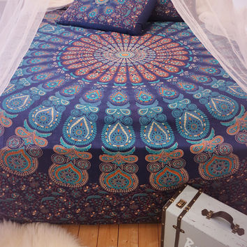 Indian Nights Mandala Throw Bedspread / Wall Hanging