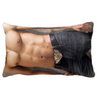 Man's Bare Chest Photograph Body Throw Pillows