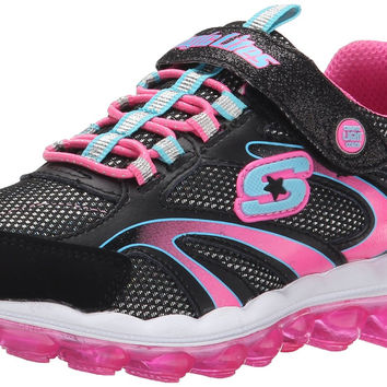 Skechers Kids Light-Up Skech Air Sneaker ,Black/Multi,10.5 M US Little Kid