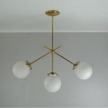 Triple Globe Drop Chandelier