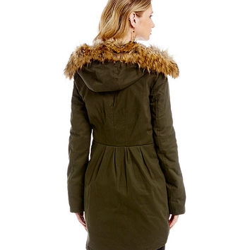 Sam Edelman Bahati Box-Pleat Twill Parka | Dillards