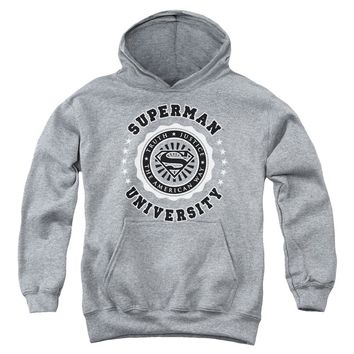 Superman - Superman University Youth Pull Over Hoodie