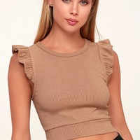 Flutter By Nude Ribbed Crop Top