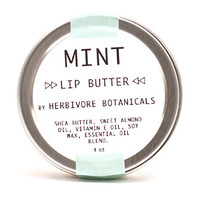 Mint  Lip Butter.  Vegan. Shea Butter. Essential Oil. 100% Natural. Lip Butter. Lip Balm.