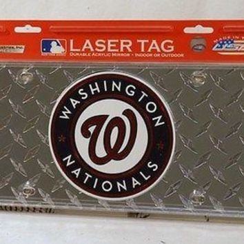 Washington Nationals Laser Cut Diamond Plate License