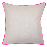 Dakota 22x22 Cotton Pillow, Pink, Decorative Pillows