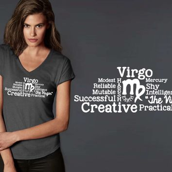 Virgo Word Art Zodiac T-shirt