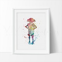 Dobby, Harry Potter Watercolor Art Print