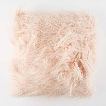 Faux Fur Pillow | Pillows + Bedding