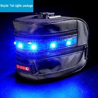 HOT! Bicycle Safety Rear Light Luggage Bag