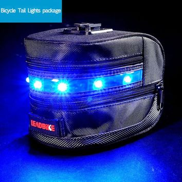HOT! Bike Bicycle Tail Light Bag Box Tour Luggage Bag Cycling Rear Lamp Safety Warning Bicycle Tail Lights Package