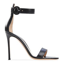Portofino 105 - Black Sandals - Gianvito Rossi Official eShop