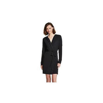 Xhilaration Women's French Terry Robe, X-Small, Black