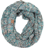 CC Mixed Infinity Scarf - Turquoise/Black