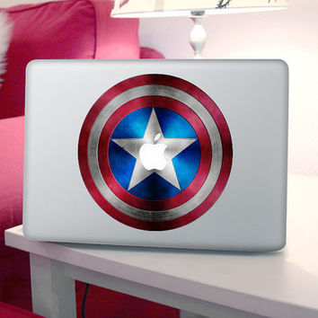 Captail America-- Macbook Decals Macbook Stickers Mac Vinyl Decal for Apple Laptop Macbook Pro / Macbook Air / iPad