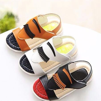 Infant's Fun Blinky Eyed Sandals
