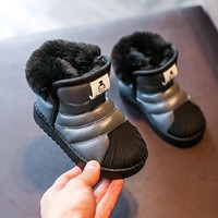 boys girls snow boots kids winter shoes warm plush soft bottom children boots fashion baby boys toddler shoes