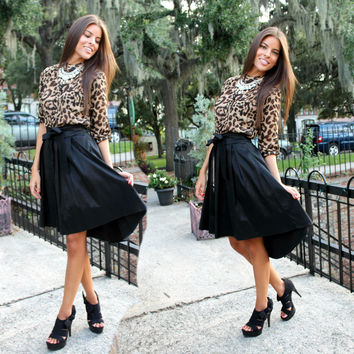 High Low Bow Skirt