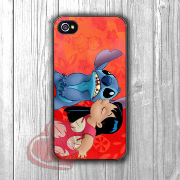 Disney Lilo and Stitch cute little family -srrw for iPhone 4/4S/5/5S/5C/6/ 6+,samsung S3/S4/S5,samsung note 3/4