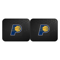Fanmats 12373 NBA Indiana Pacers Rear Second Row Vinyl Heavy Duty Utility Mat, (Pack of 2)