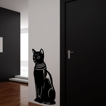 Vinyl Wall Decal Sticker Egyptian Cat #OS_MB851