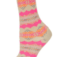 Pink Fairisle Chunky Socks - Tights & Socks - Bags & Accessories - Topshop USA