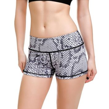 Snake Pattern Women Gym Compression Booty Shorts Spandex Ladies Volleyball Running lycra Athletic